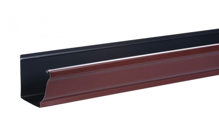 Gouttière aluminium brun - 2 mètres