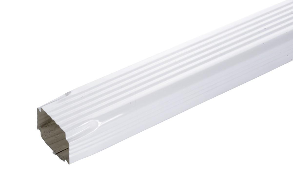 Tuyau De Descente Rectangulaire Aluminium Blanc 2 Mètres