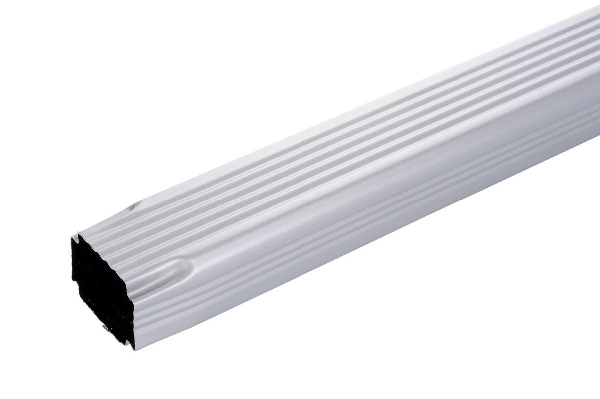Tuyau de descente 60 X 80 2M aluminium gris