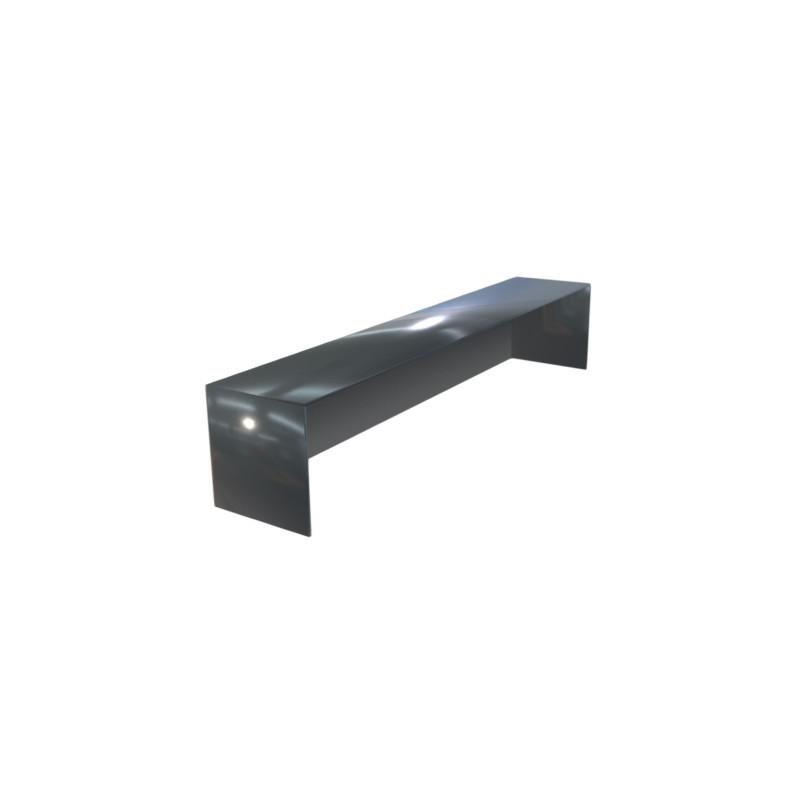 Embout couvertine aluminium 1 mm gris ardoise 7016