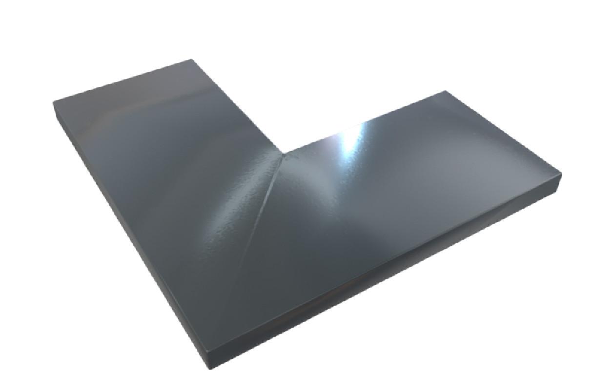 Angle aluminium 1 mm gris ardoise 7016