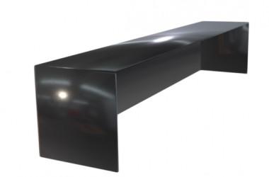 Embout couvertine aluminium 1 mm noir 9005