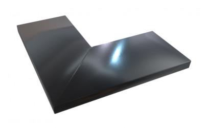 Angle aluminium 1 mm noir 9005