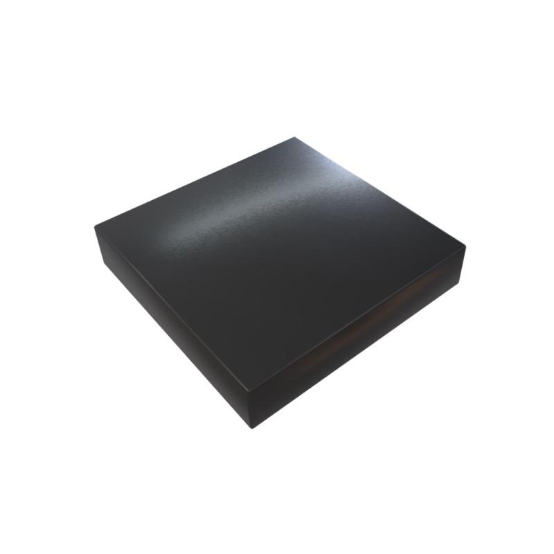 Chapeau Aluminium 1 mm noir