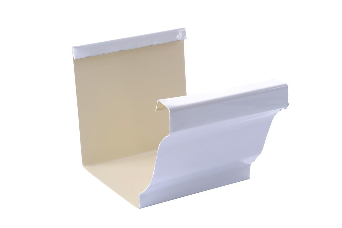 Jonction gouttière 300 aluminium blanc