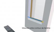 Appuis de fenêtre Aluminium blanc 2 mètres