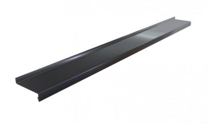 Appuis de fenêtre Aluminium noir 1 mm de 2 mètres