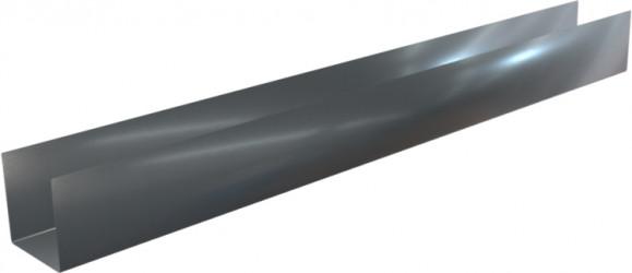 Pliage Aluminium de finition en U blanc - 2M