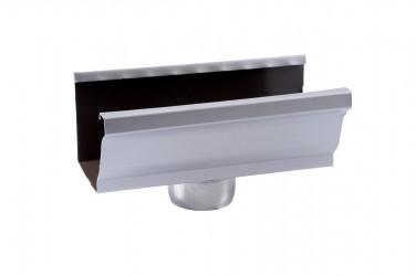Naissance sortie cylindrique D80 aluminium gris