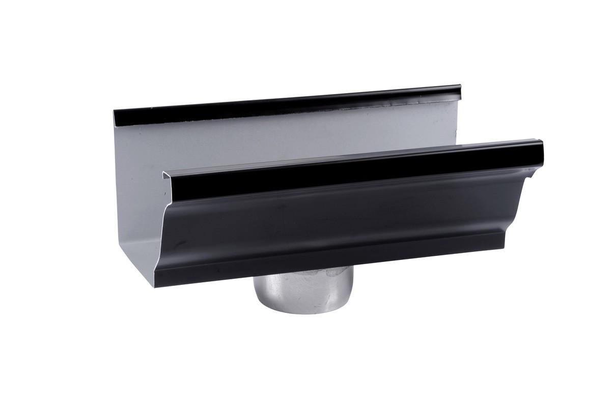 Naissance sortie cylindrique D80 aluminium noir