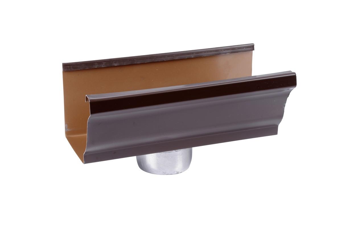 Naissance sortie cylindrique D80 aluminium marron