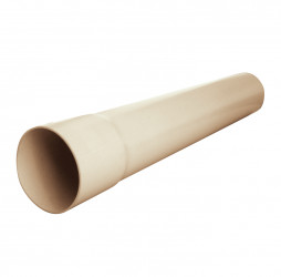 Tuyau de descente PVC sable 60 - 2 mètres