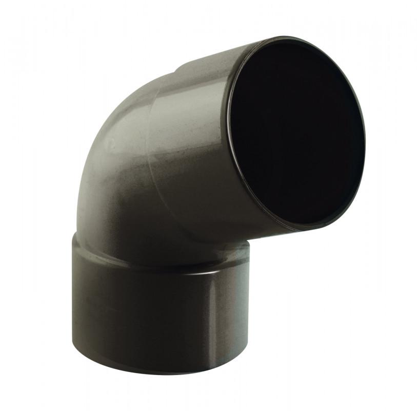 Coude 67° M/F PVC graphite 80