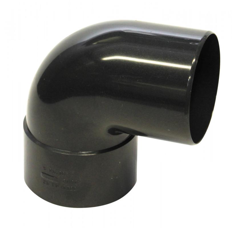 Coude 87° M/F PVC graphite 80