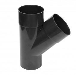 Culotte 45° M/F PVC graphite 80