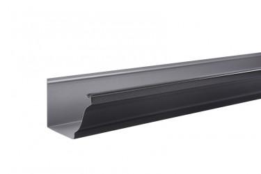 Gouttière aluminium noir sablé 2100 - 4 mètres