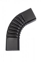 Coude latéral (B) extérieur aluminium lisse noir sablé 2100