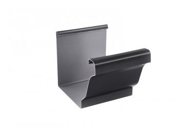 Jonction gouttière aluminium noir sablé 2100
