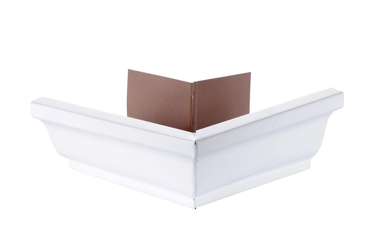 Angle extérieur gouttière 300 aluminium blanc