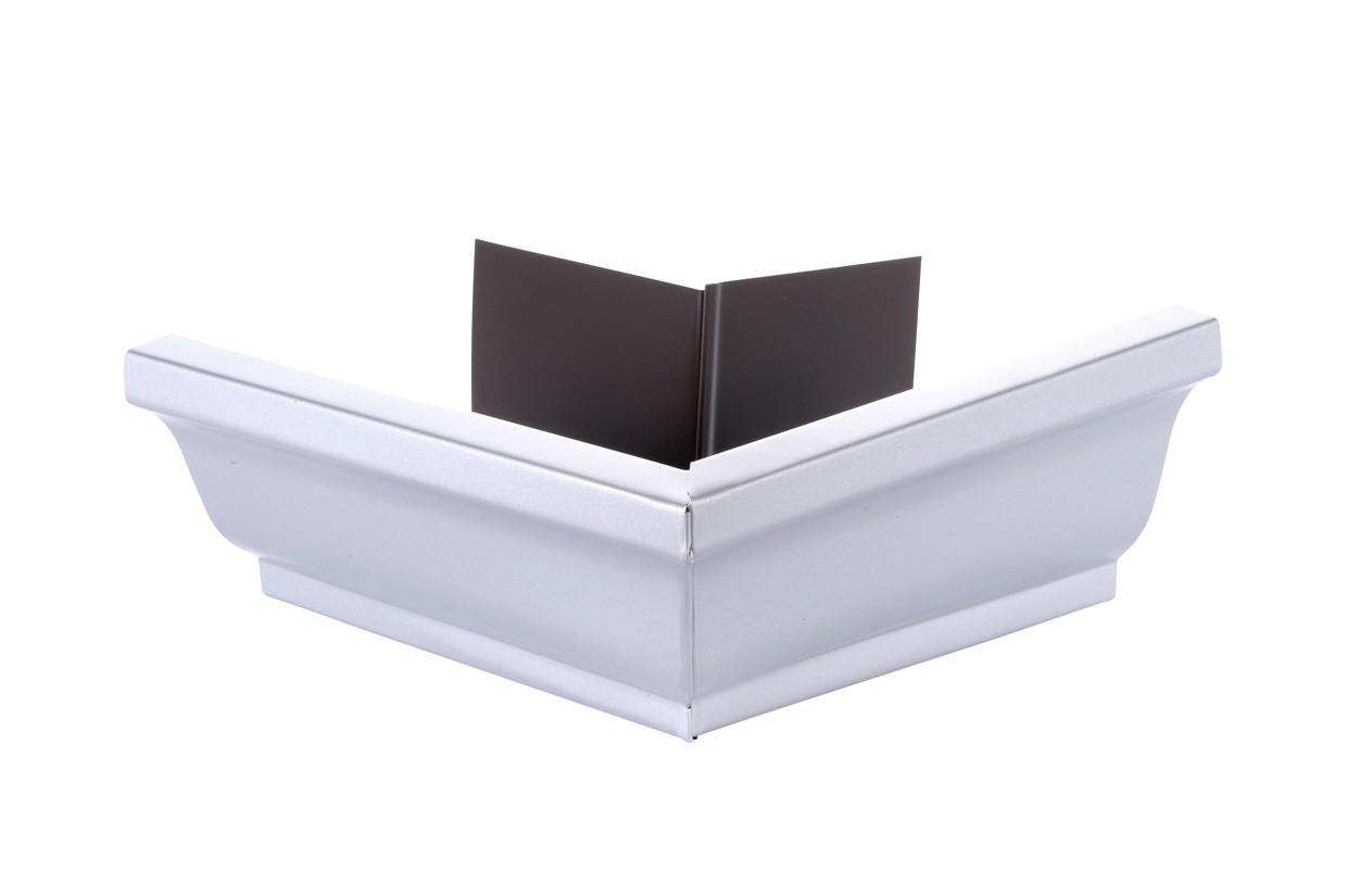 Angle extérieur gouttière 300 aluminium gris