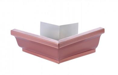 Angle extérieur gouttière 300 aluminium cuivre rosé