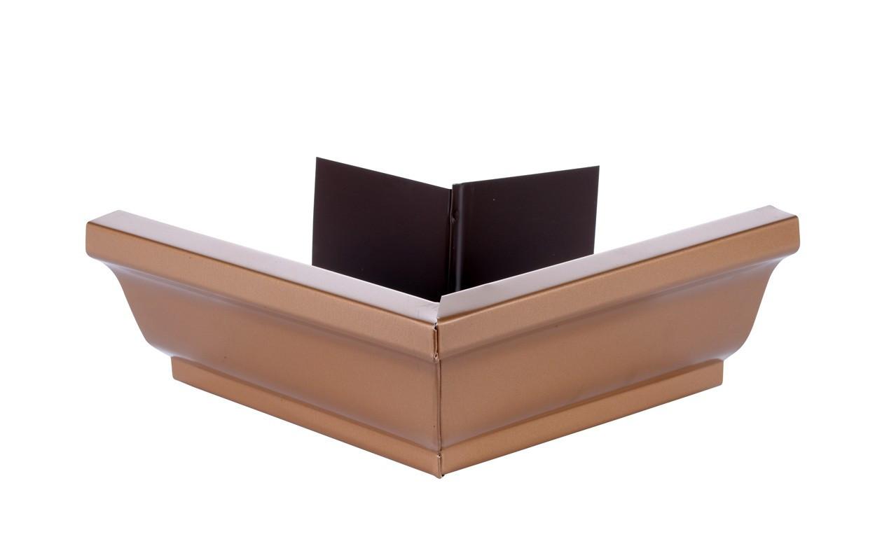 Angle extérieur gouttière 300 aluminium miel