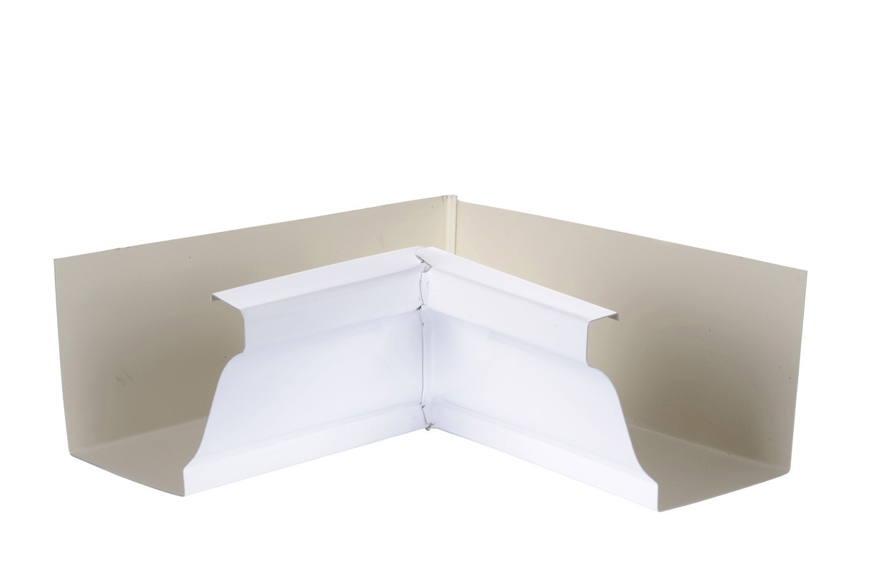 Angle intérieur gouttière 300 aluminium blanc