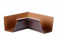 Angle intérieur gouttière 300 aluminium marron