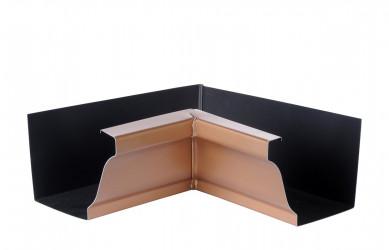 Angle intérieur gouttière 300 aluminium miel
