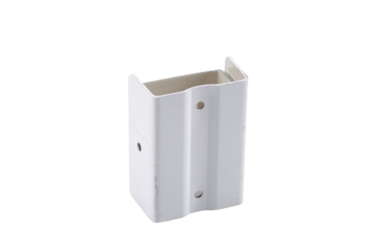Fixation descente aluminium blanc