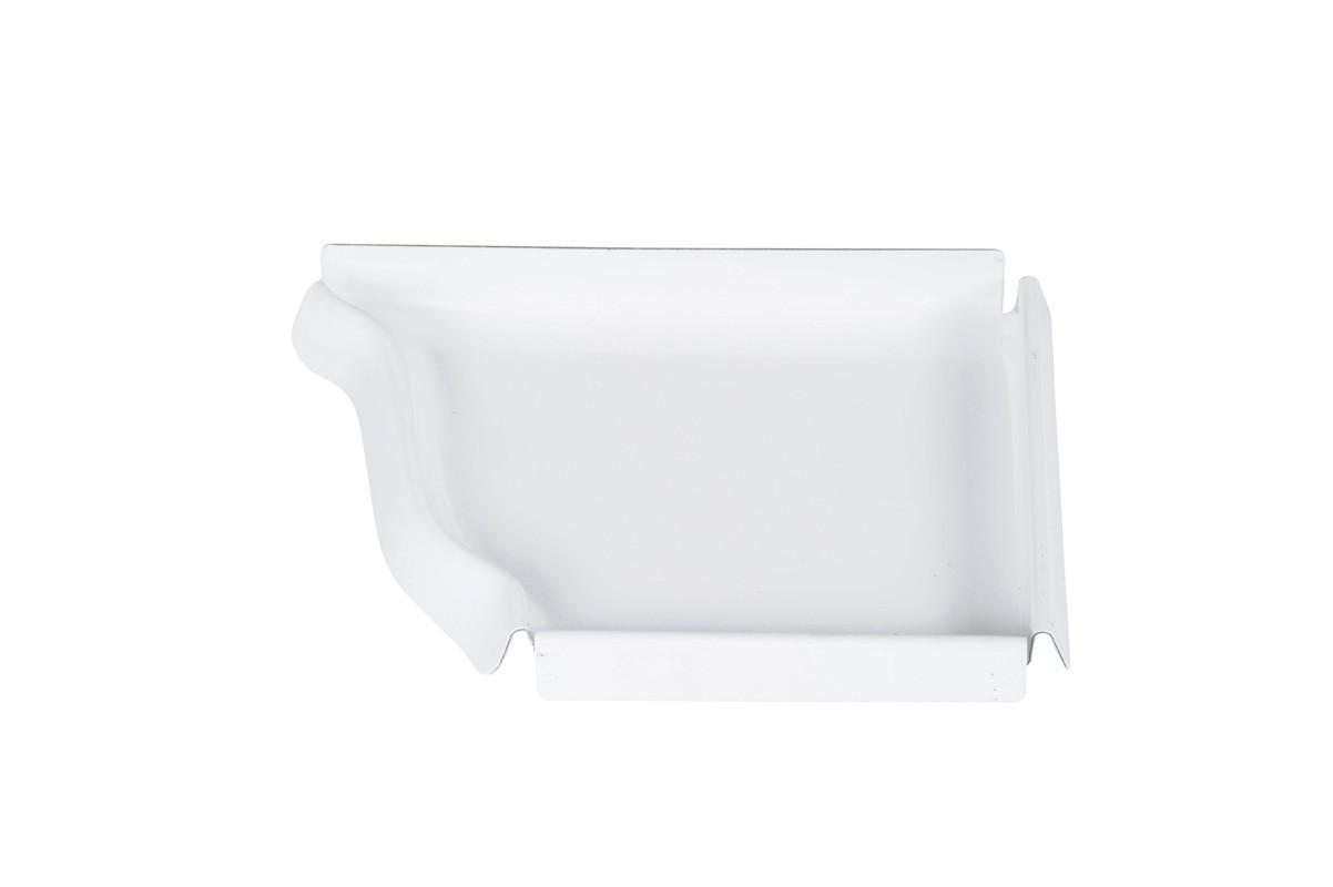 Talon corniche droit aluminium blanc