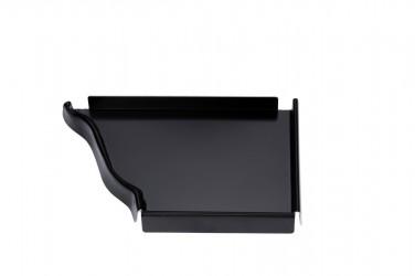 Talon corniche droit aluminium noir