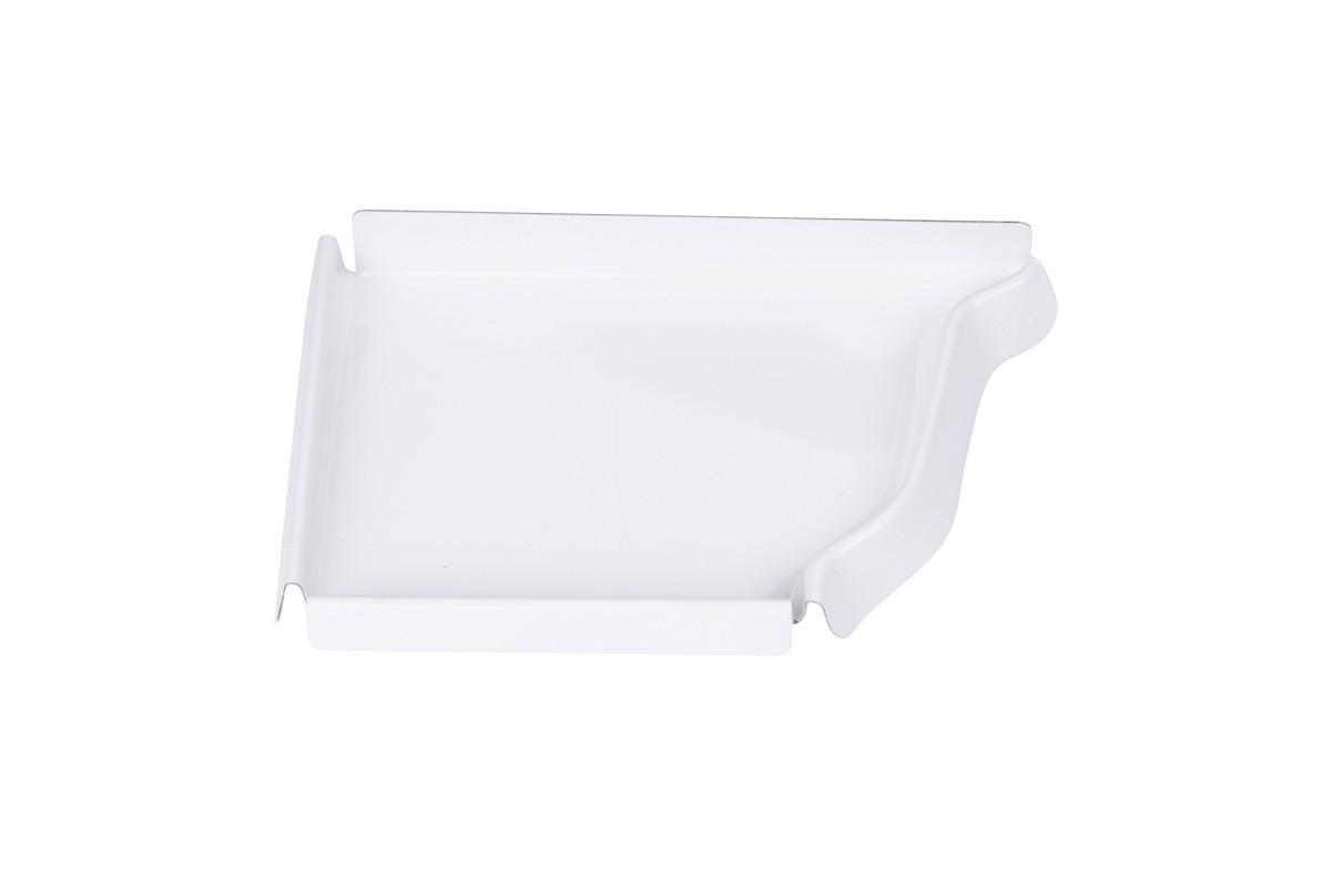 Talon corniche gauche aluminium blanc