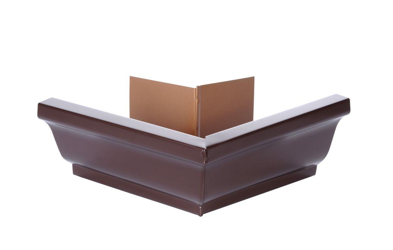 Angle extérieur gouttière 300 aluminium marron